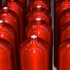 Powder Coated Red Canisters