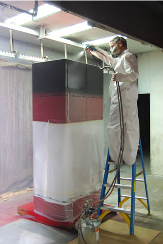 Wet painting cabinet
